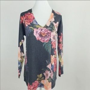 Soft Surroundings Tops - Midnight Blooms top